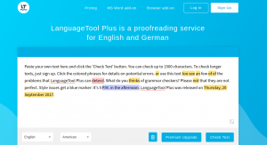 LanguageTools grammar checker