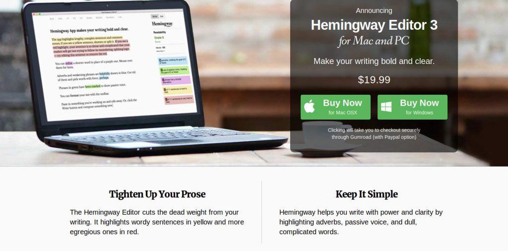 hemingwayapp like grammarly